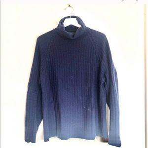 BR Ribbed Stitch Turtleneck Cashmere Sweater
